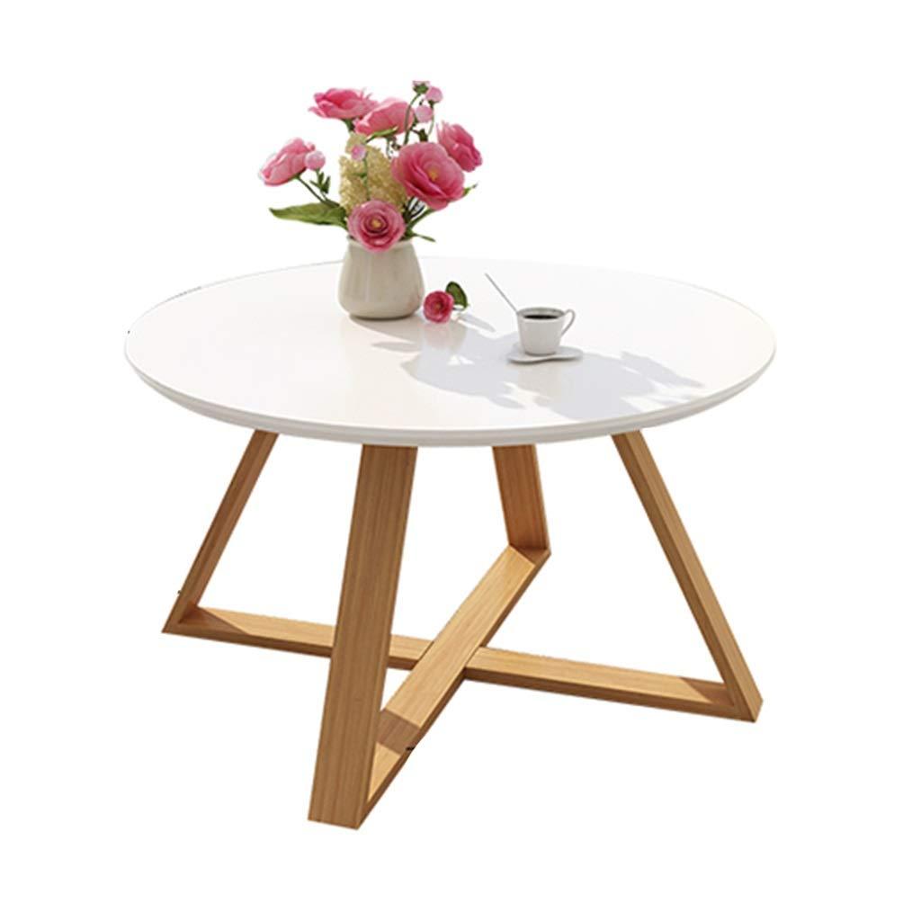 ローテーブルシンプルな丸い小さなローテーブルクリエイティブな小さなアパートの個性のリビングルームシンプルなコーナー (Color : 白, Size : 70*70*45cm) B07T3ST3S7 白 70*70*45cm