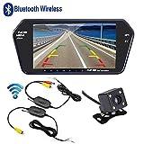 "Podofo Bluetooth Wireless Car Backup Camera System 7"" Ultra-thin HD Monitor MP5 Player USB & Night Vision Rear View Reverse Camera"