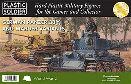 WWII Miniatures - Germany 15mm Panzer 38T w/Marder Options