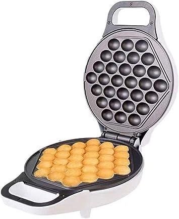 Opinión sobre SMGLJJ Waffle Maker, 180 Grados de rotación, de Doble Cara Calentamiento Uniforme, Placas Antiadherente, Acero Inoxidable 640W Burbuja Wafflera