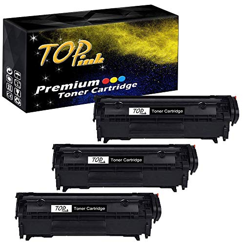 - TopInk CB536A Toner Cartridge Replacement for HP Laserjet M1319f Multifunction Printer-3 Pack