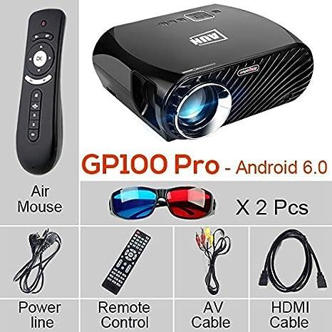 Proyector GP100 Pro, conjunto en Android 6.0.1, WiFi, Bluetooth ...