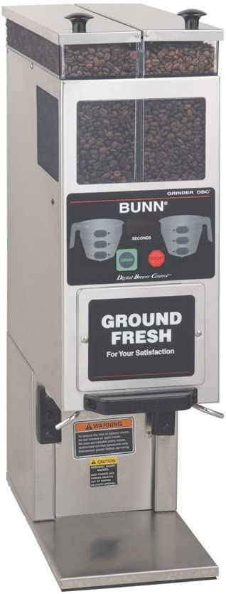 BUNN Portion Control 2-Hopper Coffee Grinder f/ Smart Funnel