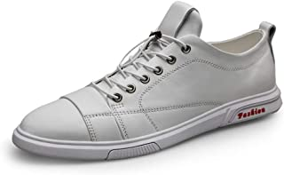 HYF Chaussures Oxford Hommes en Cuir Véritable Casual Chaussures De Course en Plein Air Baskets Plat Anti-Slip Lacé Toe Wateproof Chaussures pour Hommes
