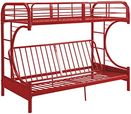 ACME Eclipse Twin Full Futon Bunk Bed - 02081RD - Red
