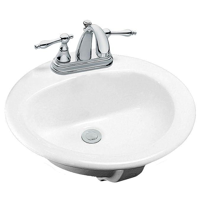 Glacier Bay Aragon Drop In Bathroom Sink In White Discontinued