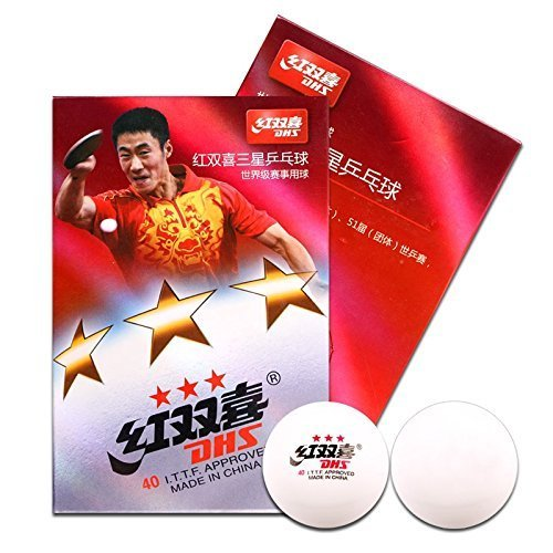 DHS Ping Pong Balls 3 star I.T.T.F Approved Table Tennis Balls Professional Ping Pong Sports Game 1 Box With 6 Pcs