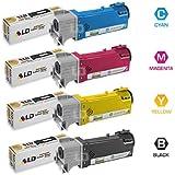 LD © Compatible Dell 2150 / 2155 Set of 4 High Yield Toner Cartridges: 1 Black 331-0719 / Cyan 331-0716 / Magenta 331-0717 / Yellow 331-0718
