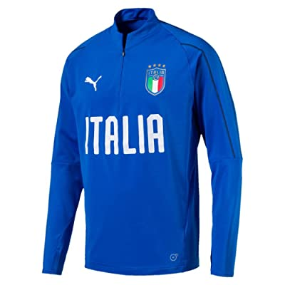 PUMA Italy KIDS 1/4 Zip Training Top 2018/2019 - Royal - 140 cm