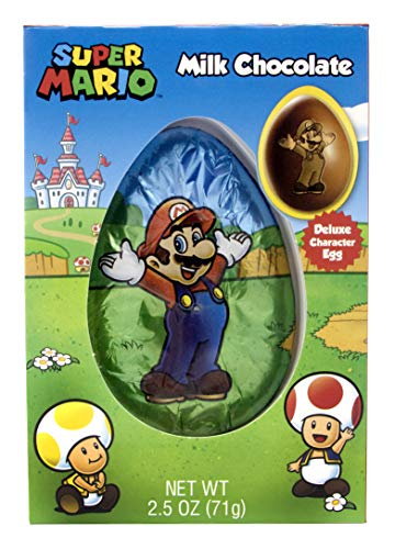 Super Mario Deluxe Milk Chocolate Easter Egg, 2.5 oz -