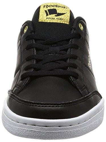 Tenis Zapatillas de Black para Met Negro Bd3209 Mujer Gold Reebok White p6tnTq5W