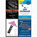 img - for 7 Habits of highly effective people, traction, drive, life leverage 4 books collection set book / textbook / text book