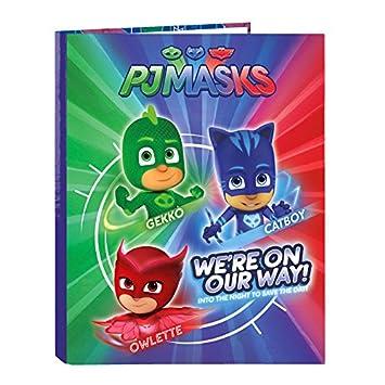 Les pyjamasques - Lot de 2 archivadores A4 con anillas pyjamasques Be a Hero: Amazon.es: Oficina y papelería