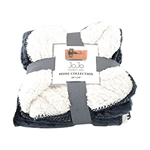 JoJo Modern Pets Home Collection Luxury Dog Blanket, Gray/Silver