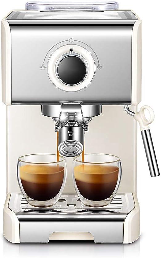 DGYAXIN Máquina de Espresso, Cafetera Espresso Steam & Pump 20 Bar de presión/1,2 litros/1250 vatios/Operación con un Solo botón/Espuma de Leche de Vapor para el Hogar/Oficina - Blanco: Amazon.es: Hogar