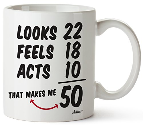 50th Birthday Gifts For Women Fifty Years Old Men Gift Mug Happy Funny 50 Mens Womens Womans Wifes Female Man Best Friend 1968 Male Unique Mugs Ideas 68 Woman Wife Gag Dad Cute Girls Guys Good Husband ()