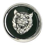 OES Genuine Jaguar Catalyst Wheel Cap Emblem - Silver on Green