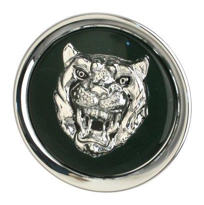 OES Genuine Jaguar Catalyst Wheel Cap Emblem - Silver on Green by OES Genuine