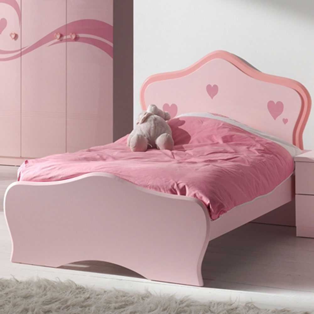 Mädchen-Kinderbett Hearty in Rosa Pharao24