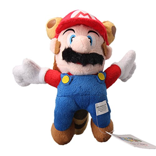 Cosplay 8' Plush - uiuoutoy Super Mario Bros. Flying Red Raccoon Mario Plush 8''