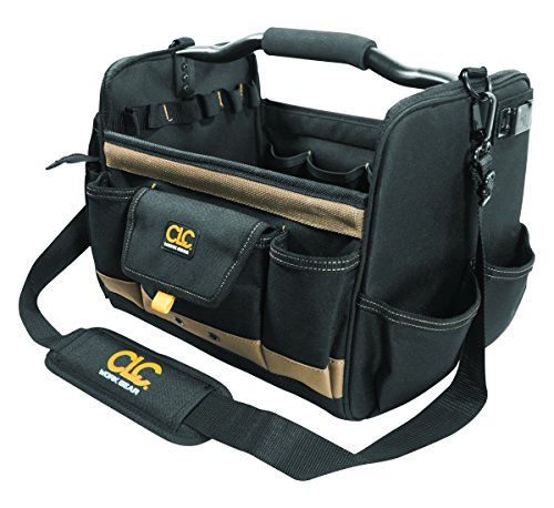CLC Custom Leathercraft 1578 14 Inch, Open Top, Soft Sided Tool Box, 31 Pockets