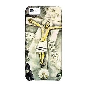 New Tpu Hard Case Premium Iphone 5c Skin Case Cover(white Crucifixion Marc Chagall)