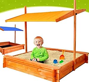 Fantastic Wooden Sandbox Sand Box Sandpit With Seats And