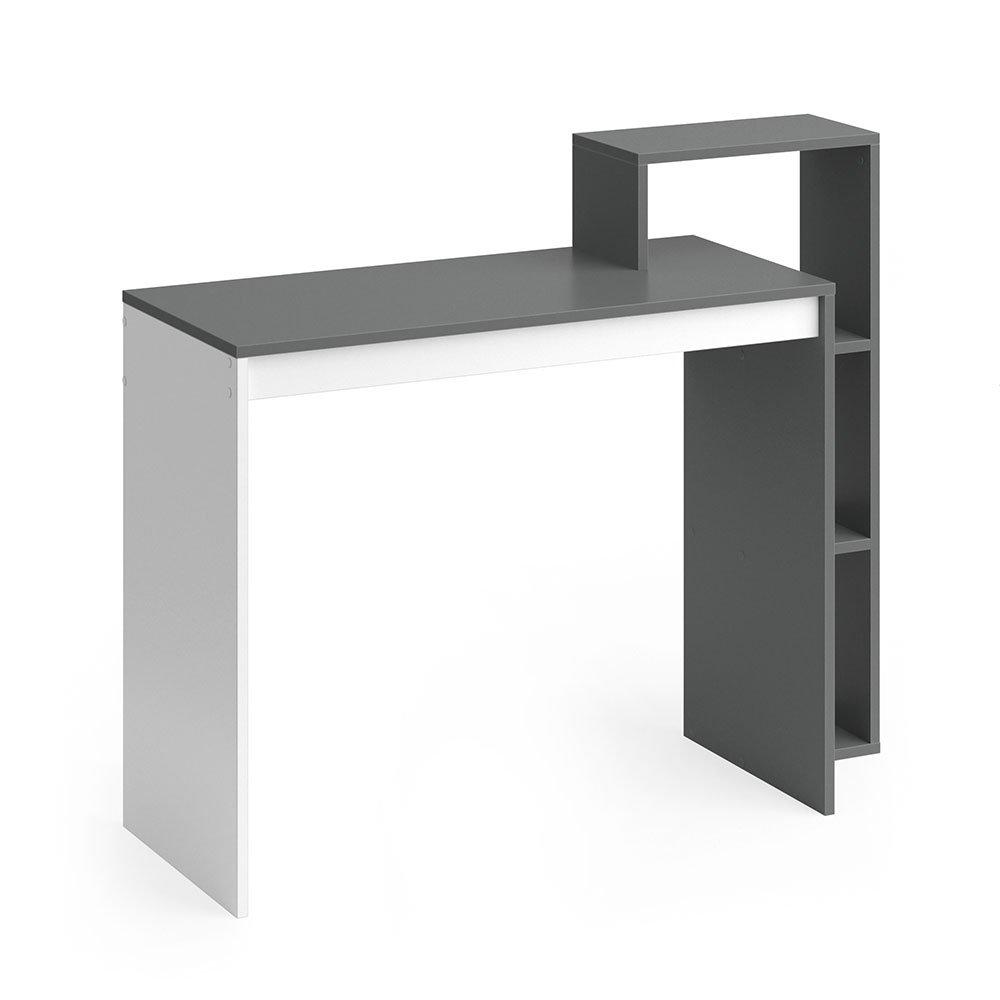 Vicco Schreibtisch LEO 110 x 91 cm Weiß Eiche Sonoma Anthrazit - Schreibtisch Arbeitstisch Bürotisch (Weiß Anthrazit)