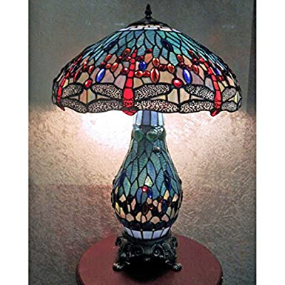 Warehouse of Tiffany Dragonfly Table Lamp with Lighted Base