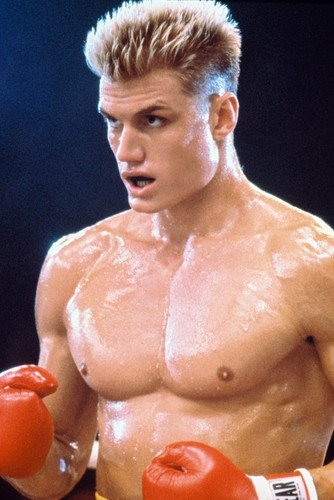 Lweike Dolp Lundgre as Ivan Drago in ring Rocky IV 24X36 Mov