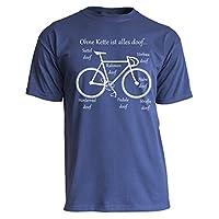 Nukular T-Shirt Ohne Kette ist alles doof... (Rennrad/Fixie), Farbe navy,...