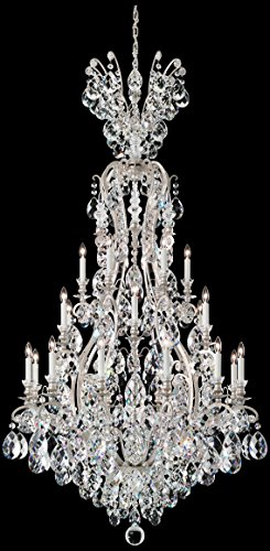 Schonbek 3783-55TK Swarovski Lighting Renaissance Chandelier, Wet Black