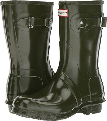 Hunter Women's Original Short Gloss Dark Olive Rain Boots - 9 B(M) US