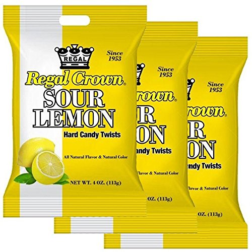 Regal Sour Lemon Drops 3 4oz. Bags