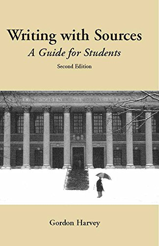 Writing with Sources: A Guide for Students (Hackett Student Handbooks)