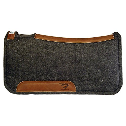 Diamond Wool Contour Felt Ranch Pad 32X32 (Wool Pad Western)