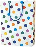 Arrow Paper Bags, Dots,28cm H x 20cm W x 7.5cm B (Pack of 20)