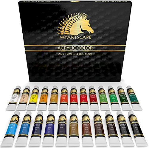 Acrylic Paint Set - 24 x 12ml - Art Paints - Artist Quality - MyArtscape