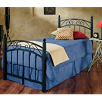 Hillsdale Furniture 224BTWR Willow Bed Set with Rails, Twin, Textured Black