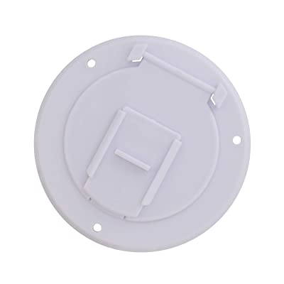 Dumble Round Electric Cable Hatch for 30 Amp RV Electric Cord – RV Camper Electric Cord Cover, White: Automotive