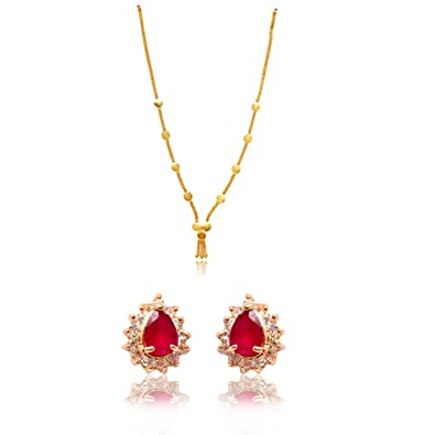 3bbd6d695 Buy Ratnakar Golden Top Earring With Golden Coin Set For Women Online at  Low Prices in India | Amazon Jewellery Store - Amazon.in