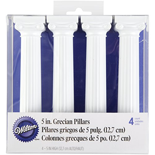 (Wilton 303-3703 4-Pack Grecian Pillars for Cakes, 5-Inch)