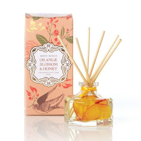 Orange Blossom & Honey Petite Botanical Reed Diffuser by Djohn2008 (Orange Linden Blossom)