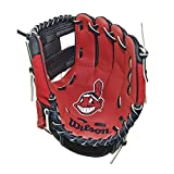 """Wilson A200 10"""" Cleveland Indians Glove Right Hand Throw, Navy/White/Red"""