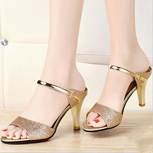 6cm high heel slippers fashion wild sandals and slippers outdoor beach shoes outdoor sandals Flat Sandals,Fashion sandals (Color : B, Size : 35) B