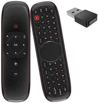 W2 2.4G Air Ratones inalámbrico mando a distancia con teclado y receptor USB para Smart TV Android TV Box proyector HTPC: Amazon.es: Electrónica