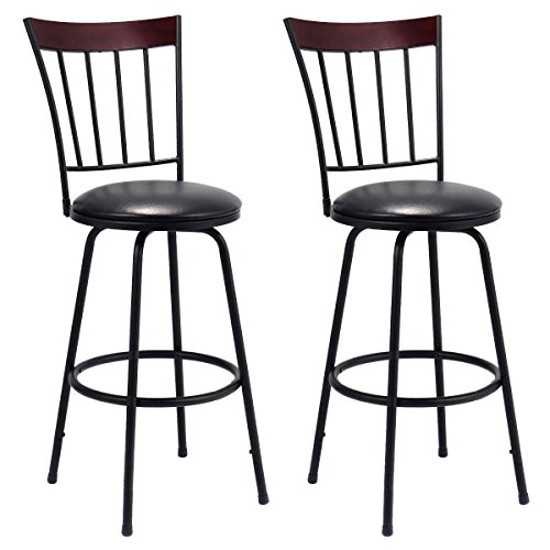 Costway Swivel Counter Leather Barstool