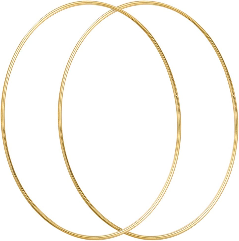 Dream Catcher and Macrame Wall Hanging Crafts Sntieecr 5 Pack 14 Inch Large Metal Floral Hoop Wreath Macrame Gold Hoop Rings for DIY Wedding Wreath Decor