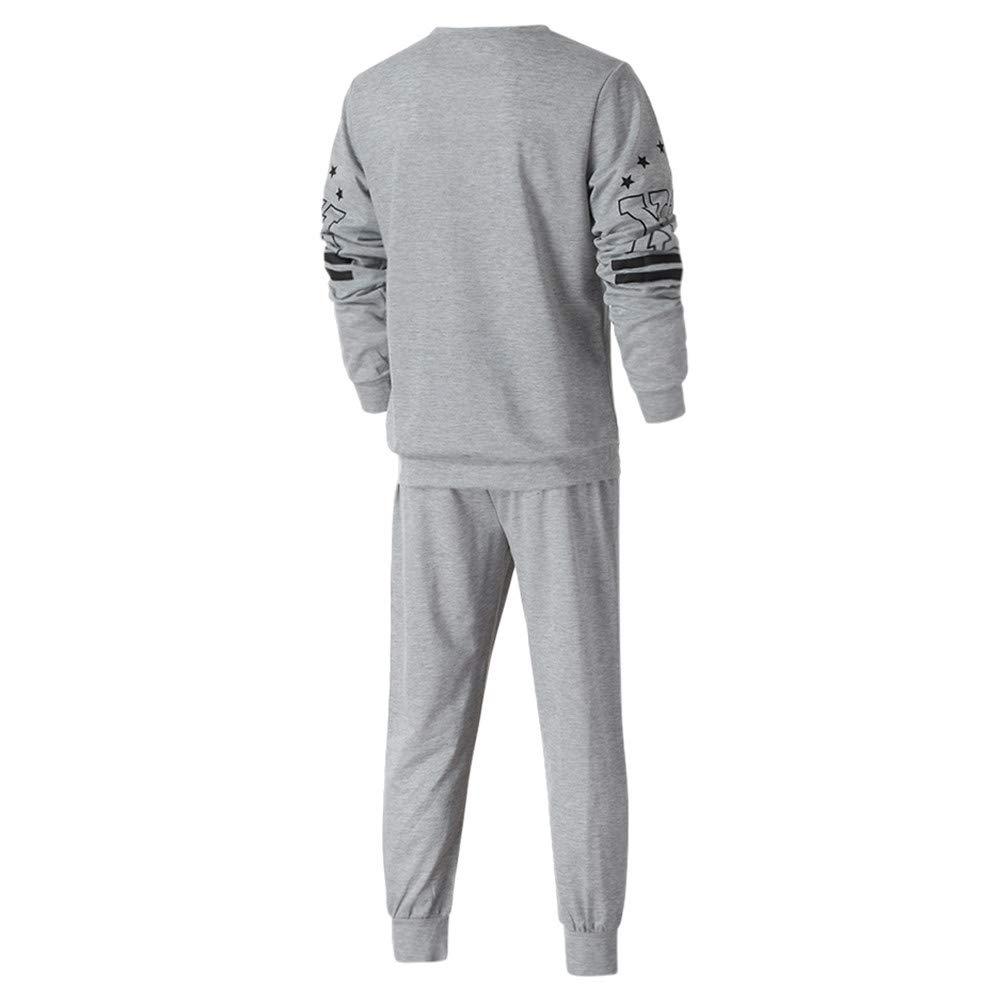 Los Hombres de otoño Invierno Impreso Sudadera Pantalones Superiores Conjuntos de Trajes Deportivos chándal por Internet.: Amazon.es: Ropa y accesorios