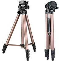 K&F Concept Portable Travel Camera Tripod 49 Inch 4 Section Load Capacity 2KG Aluminum Alloy Lightweight Tripod for Digital or Video Canon Nikon Sony Camera